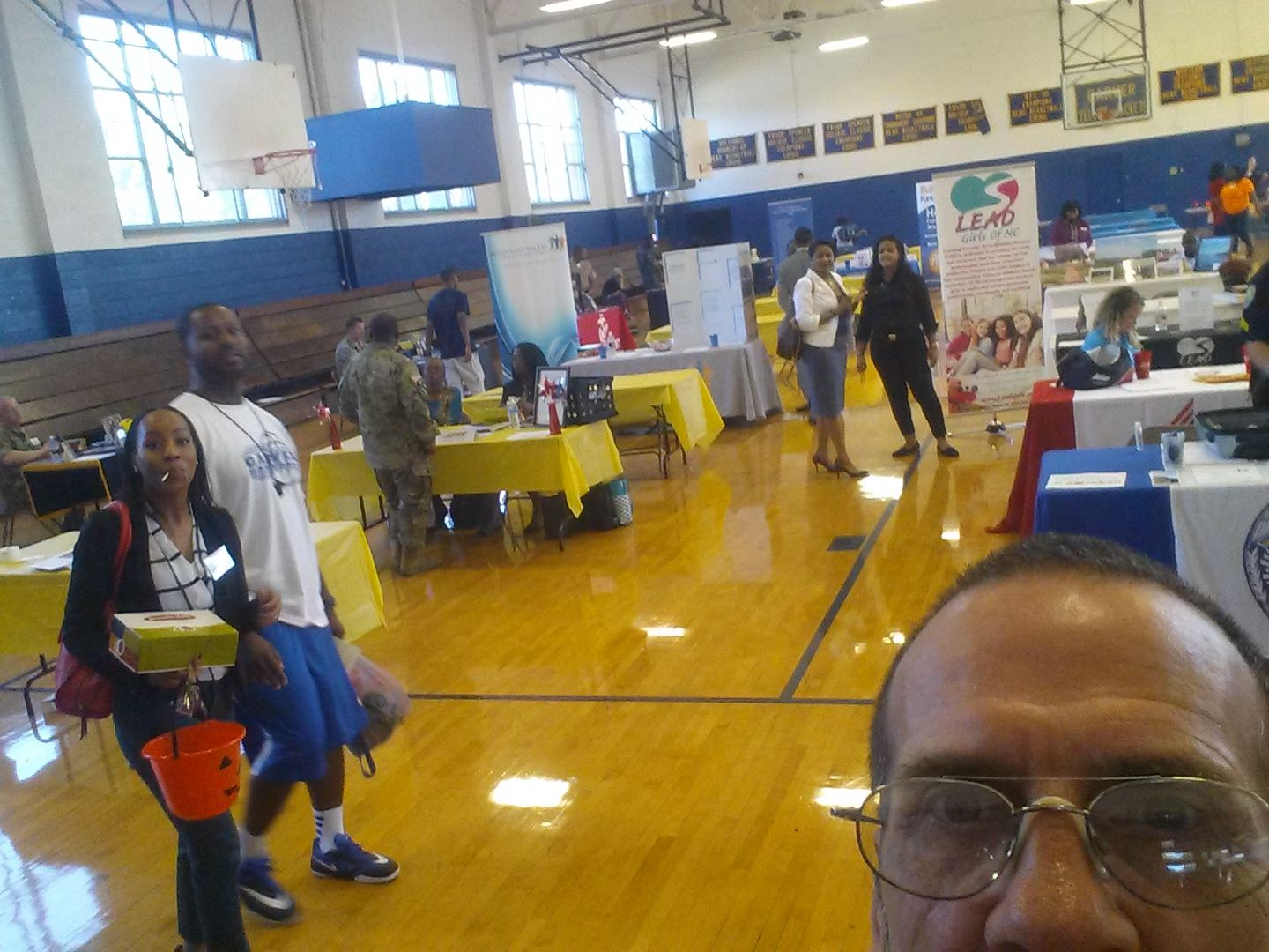 Glen Coleman in the midst of the career fair